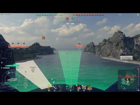 WORLD OF WARSHIPS , RUNNING THE MIDDLE OF TWO BROTHERS !