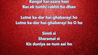 Simti si sharmayi si - Parwana - Full Karaoke with scrolling lyrics