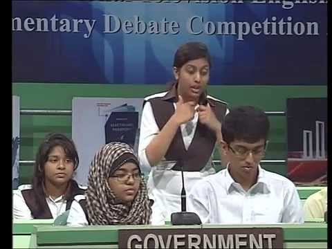 BTV Debate 2015 - Dhanmondi Tutorial vs BAF Shaheen School (Part 1)