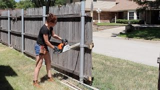 Building a Board on Board Cedar Fence - Part 1