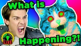 TRAPPED by CRAZY CATS!! | PUSS! (Rage Game) - EPILEPSY WARNING