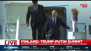 Russian President Vladimir Putin arrives in Helsinki