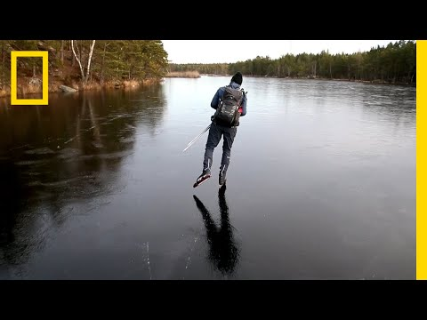 Xxx Mp4 Hear The Otherworldly Sounds Of Skating On Thin Ice National Geographic 3gp Sex