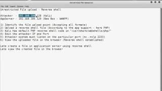 File Upload Reverse Shell