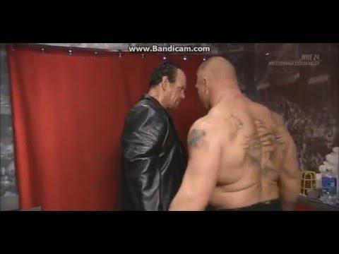 Brock Lesnar shows respect to Undertaker - Backstage Wrestlemania 31