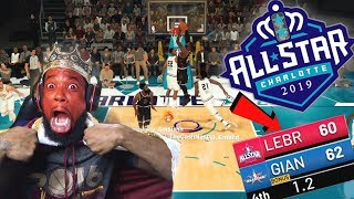 Team LEBRON vs Team GIANNIS ALL-STAR 1 MILL VC WAGER! BUZZER BEATER NBA 2K19 MyTeam