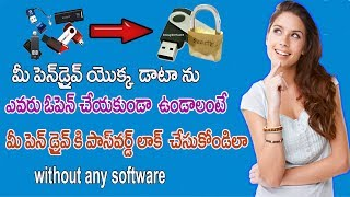 Tricks on How to Lock your PENDRIVE Data without any Software | Pendrive Hacks in Telugu | Net India