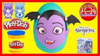 GIANT Vampirina Play Doh Egg Full of Toys, Surprizamals, Tsum Tsum, Squishy Toys, Disney Princesses