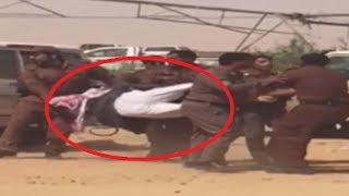 الشرطة السعودية تخلي ابوعباه من تعديات زراعية شمال السعوديه