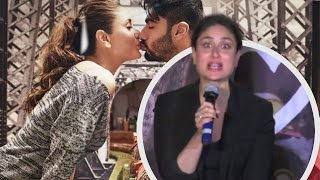 Kareena Kapoor Angry When Ask Recreate Ki & Ka Kissing Scene On Trailer Launch !!