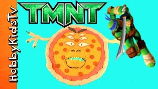Pizza Monster SPITS Out TMNT Surprise Toys! Play-Doh Fun w/Teenage Mutant Ninja Turtles HobbyKidsTV