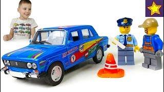 Машинки Лада 2106 УЧЕБНАЯ Сдаем Экзамен по Вождению в Автошколе Car Toys for kids