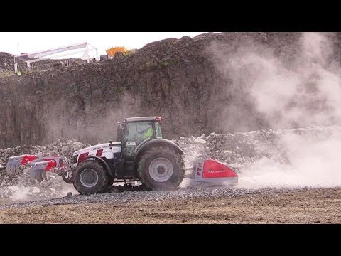 Xxx Mp4 Massey Ferguson 8735 With An PTH 2500HD Crusher Live Demo Steinexpo 2017 3gp Sex