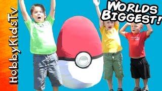Worlds Biggest Pokemon Themed Surprise Egg by HobbyKidsTV