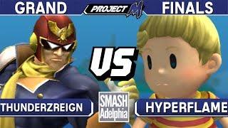 Project M - ThundeRzReiGN (Captain Falcon) vs HyperFlame (Lucas) - SMASHADELPHIA 2017 Grand Finals