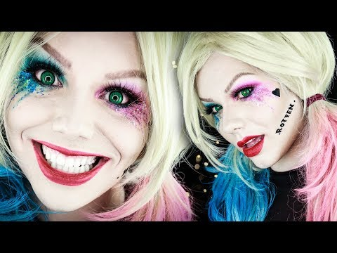 Xxx Mp4 Harley Quinn Glitter Tears Suicide Squad Halloween Makeup Tutorial Electra Snow 3gp Sex