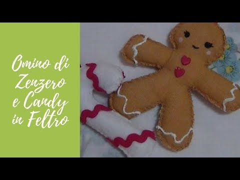 Tutorial Gingerbread e candy in tessuto e pannolenci christmas decorations