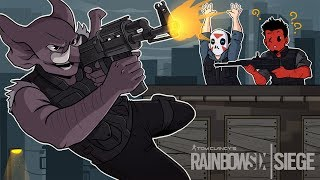 SWAN-DIVE TACTICS! Rainbow Six: Siege (w/ H2O Delirious & Gorillaphent) R6 Blood Orchid