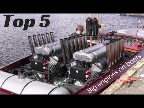 TOP 5 Big engines in small Boats inboard open boat