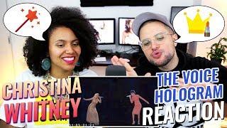 Christina Aguilera & Whitney Houston - Hologram Performance On The Voice | REACTION