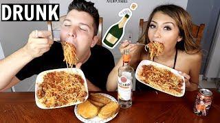 DRUNK CRINGEY EATING SHOW   Spaghetti