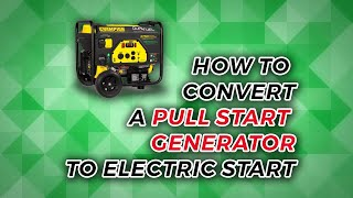 How To Convert a Pull Start Generator to Electric Start