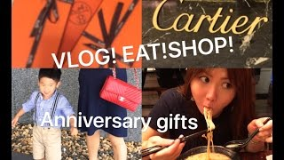 VLOG- Blueberry picking, Eating and Shopping TRIP (Cartier, Hermes and more)