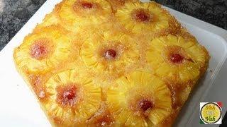 Pineapple Upside Down Cake - By Vahchef @ vahrehvah.com