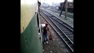 Dangerous train stunts in Kolkata