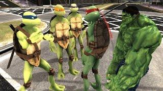 Teenage Mutant Ninja Turtles vs HULK - EPIC BATTLE