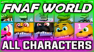 FNAF World ALL CHARACTERS | How to Guide & Showcase | FNAF World Gameplay All Characters