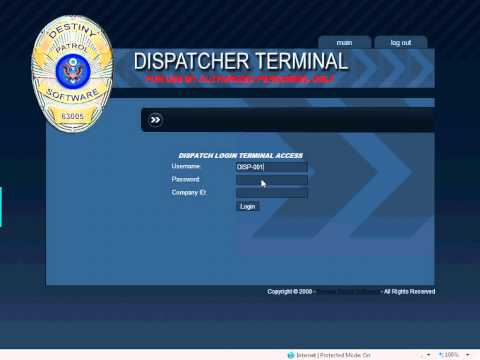 How To Log Into The Computer Aided Dispatch Terminal