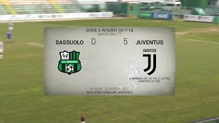 HIGHLIGHTS: Sassuolo vs Juventus Women 0-5 | 20.3.2018