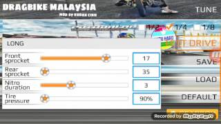 Drag Bike Malaysia - RXZ BOSCH BEST TUNE FOR 1/2 MILE(SET LONG)
