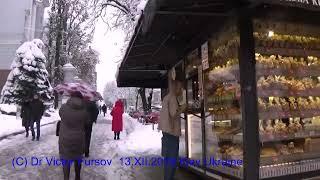 Киев, UKRAINE: Снег Кружится, Летает и Тает, Зима 2018