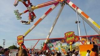 Florida State Fair 2017 -  Fire Ball Ride - 4k Video