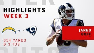 Jared Goff Racks Up 354 Yards & 3 TDs in the Battle of LA!