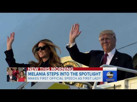 Melania Trump steps into spotlight with first public speech as first lady