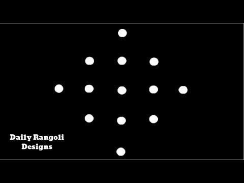 Beautiful Simple Padi Kolam Designs with 5X1 Dots Easy Muggulu Kolam Rangoli Easy Kolangal 929
