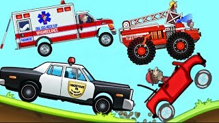 Сars For Kids - Police Car, Fire Truck, Ambulance - Hill Climb Racing | BEST Android Games