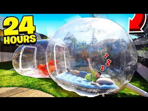 SPENDING 24 HOURS IN A BUBBLE TENT