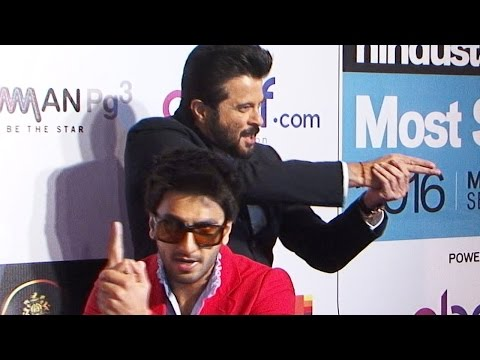 Ranveer Singh & Anil Kapoor's CRAZY ANTICS @HT Most Stylish Awards 2016