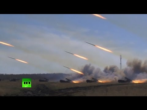 watch Video: Russia test-launches missiles during planned military drills