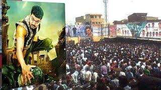 Vijay Kerala Fans Celebrating Puli Release | Public Review
