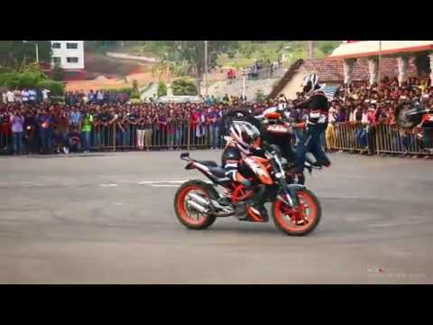 KTM Stunt Show -  THROTTLERZ Mangalore MITE College, Mangalore - March 2015