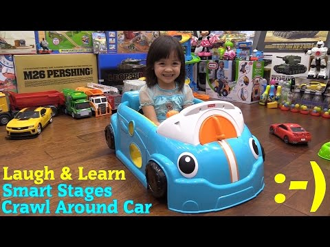 Educational Toys for Toddlers Fisher Price Smart Stages Crawl Around Car Unboxing and Playtime Fun