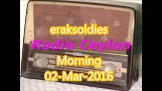 Radio Ceylon 02-03-2016~Tuesday Morning~02 Purani Filmon Ka Sangeet
