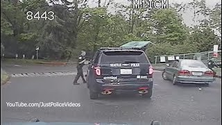 Man Runs Over Police Officer, Short Police Chase