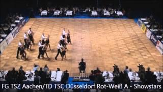 Deutsche Meisterschaft 2014 FG TSZ Aachen / TD TSD Düsseldorf Rot-Weiß - Showstars