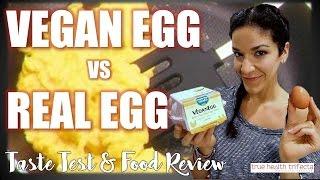 VEGAN EGG vs REAL EGG - Taste Test, Food Review, VeganEgg, Mini Mukbang